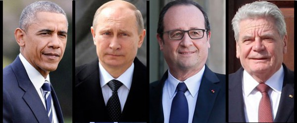 obama putin hollande gauck