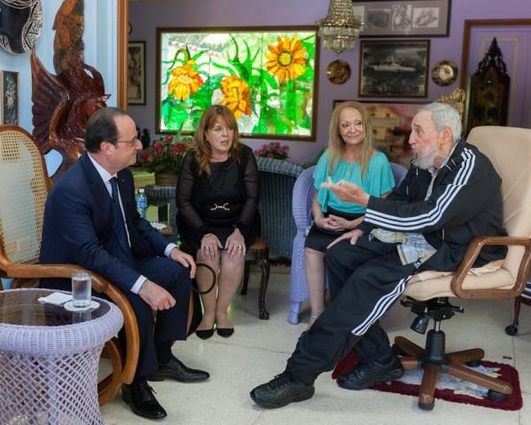 Hollande-Fidel Castro-2