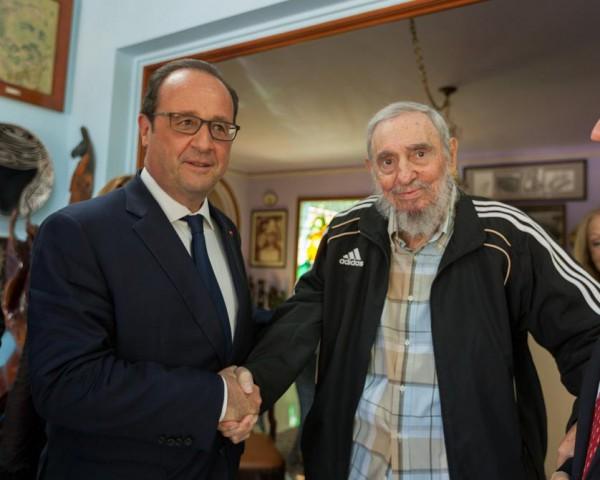 Hollande-Fidel Castro